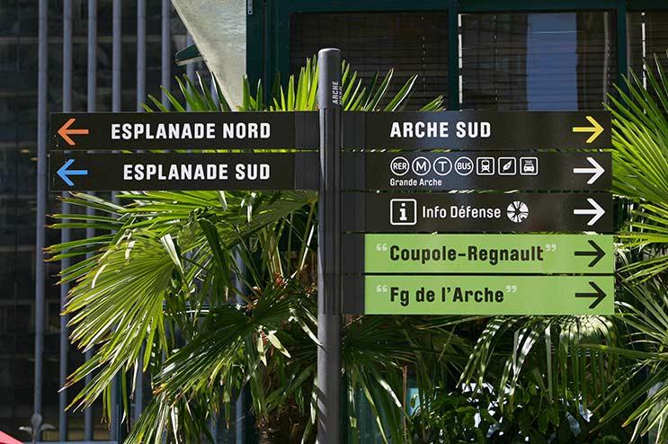 Signalétique piétonne Ibiza La Défense Paris